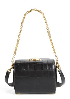 Alexander McQueen Box Bag 19 Croc Embossed Leather Bag