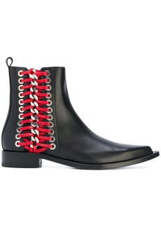 Alexander McQueen Braided Chain ankle boot - Black