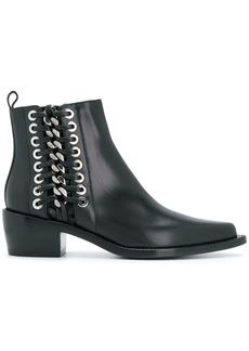 Alexander McQueen braided cuban boots - Black