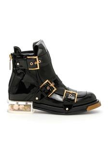 Alexander McQueen Brushed Calfskin Boots