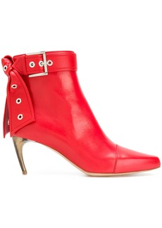 Alexander McQueen buckle ankle boots - Red