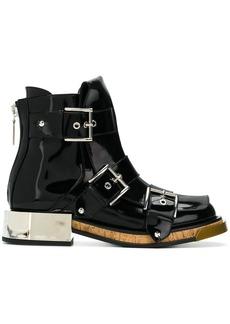 Alexander McQueen buckled boots - Black