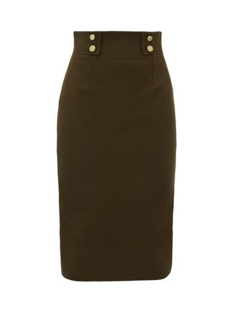 Alexander McQueen Buttoned wool-blend pencil skirt
