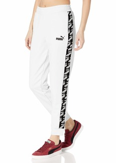 PUMA Women's Amplified French Terry Pants White S