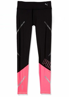 PUMA Women's Tights Black-nite Pink M