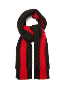 Alexander McQueen Cable-knit cashmere scarf