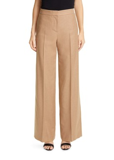 Alexander McQueen Camel Hair Wide Leg Pants