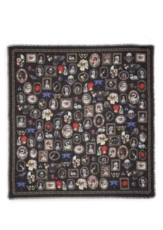 Alexander McQueen Cameo & Curiosities Modal & Wool Square Scarf