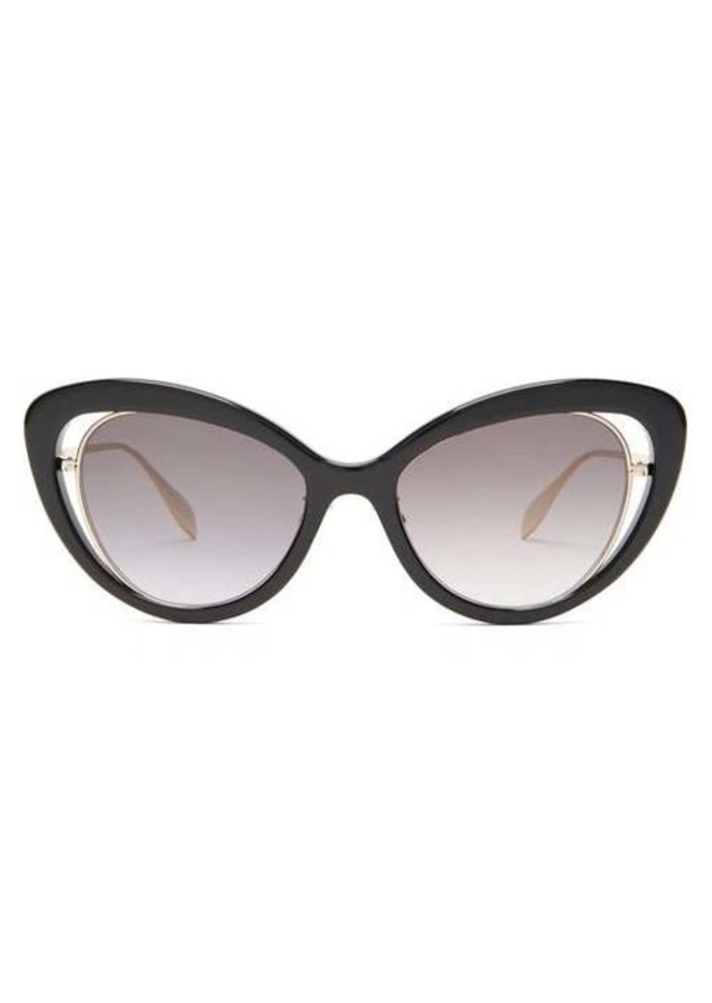 Alexander McQueen Cat-eye acetate sunglasses