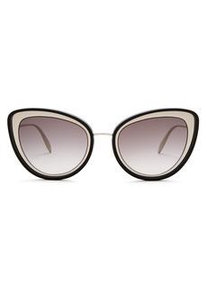 Alexander McQueen Cat-eye metal sunglasses