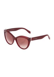 Alexander McQueen Cat-Eye Plastic Sunglasses
