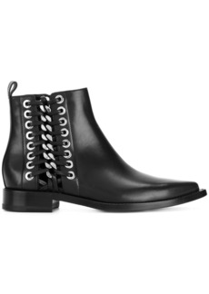 Alexander McQueen chain and eyelet detail Chelsea boots - Black