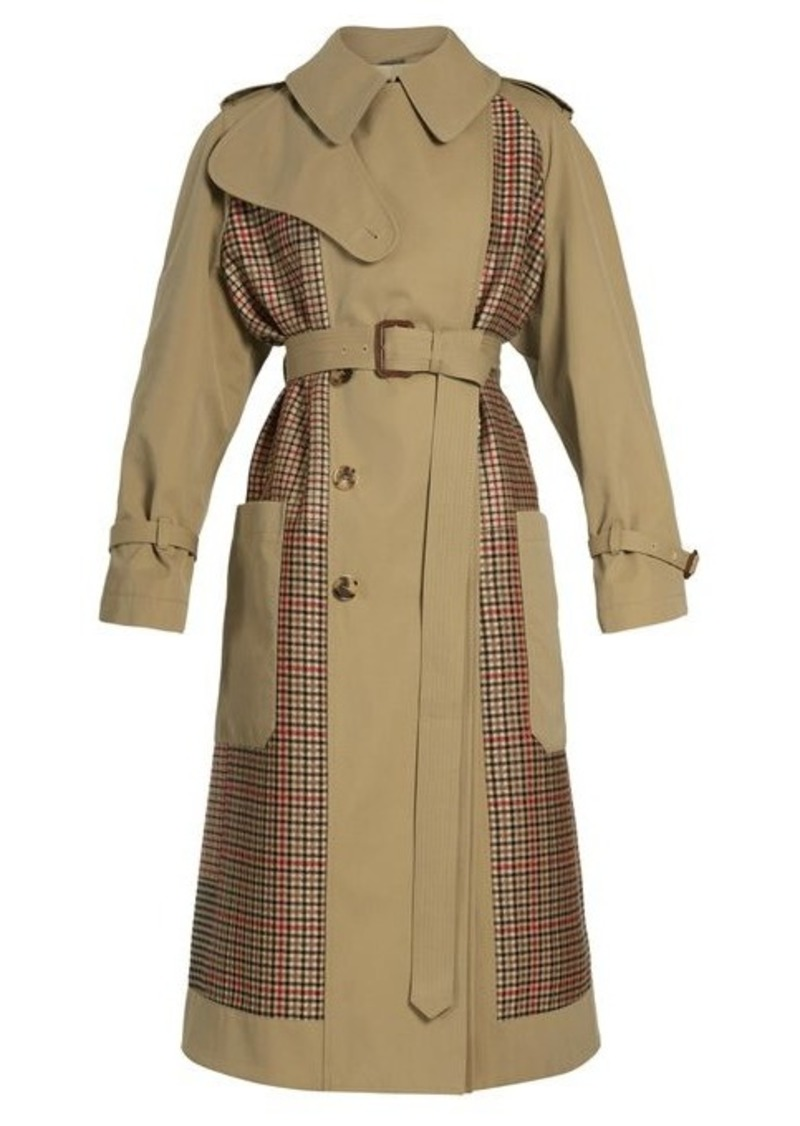 Alexander McQueen Checked-back belted trench coat