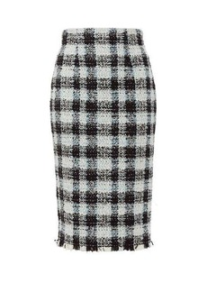 Alexander McQueen Checked tweed pencil skirt