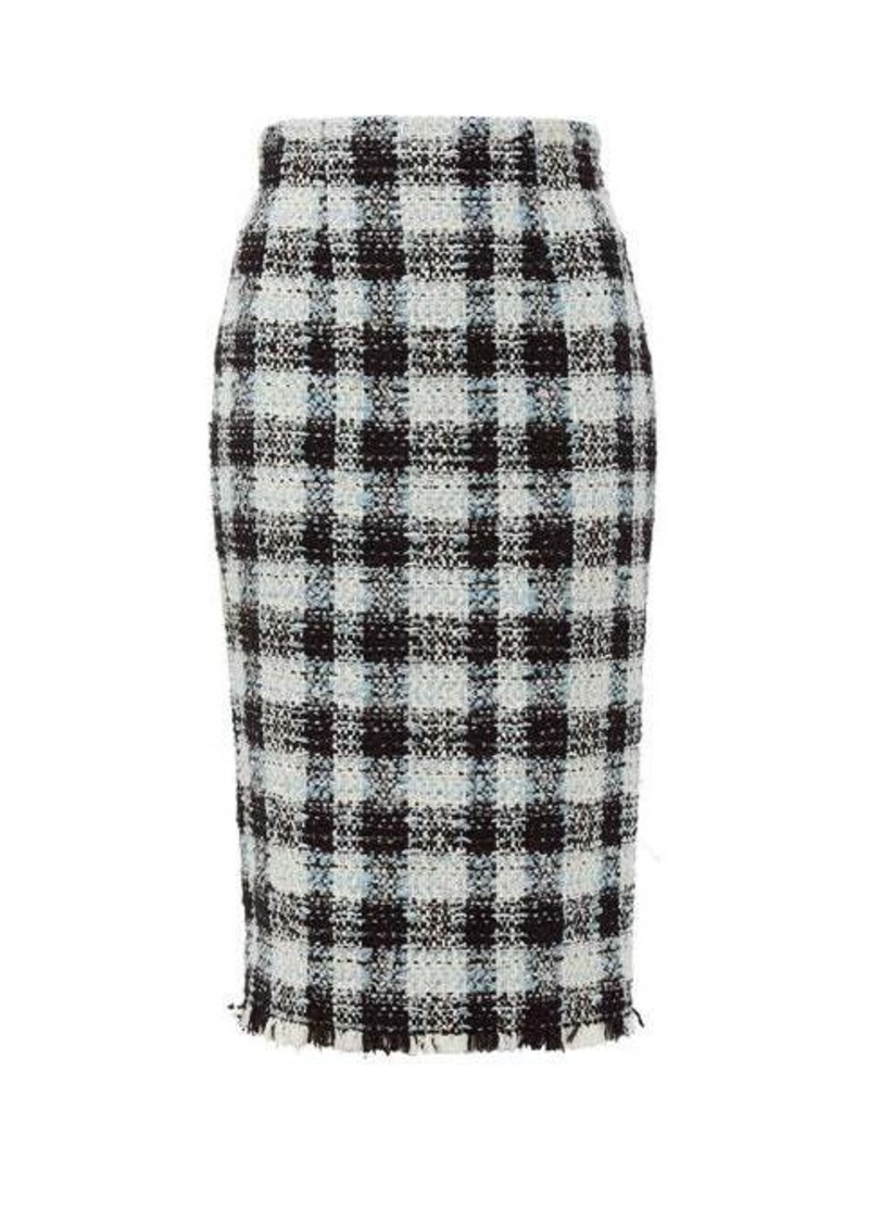Alexander McQueen Checked tweed pencil skirt