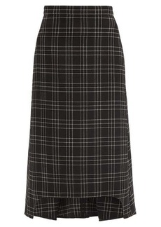 Alexander McQueen Checked wool midi skirt