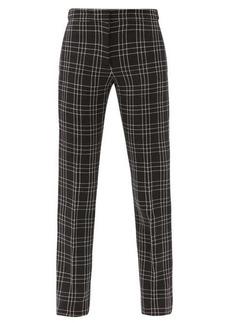 Alexander McQueen Checked wool-twill slim-leg trousers