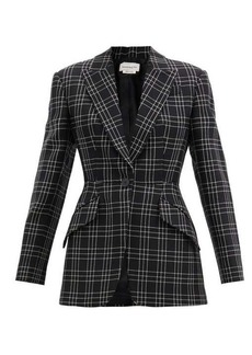 Alexander McQueen Single-breasted check wool-twill jacket