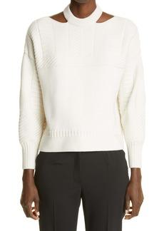 Alexander McQueen Chunky Cutout Sweater