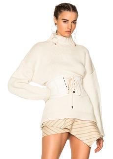 Alexander McQueen Chunky Knit High Neck Sweater