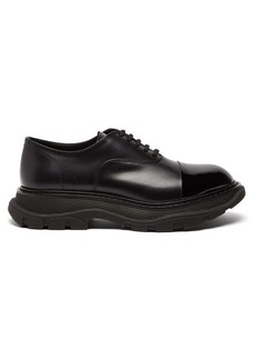Alexander McQueen Chunky-sole leather oxford shoes