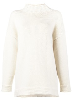 Alexander McQueen chunky turtle neck knit - White