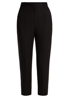 Alexander McQueen Cigarette-leg wool grain de poudre trousers