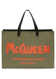 Alexander McQueen City East West Logo Tote Bag