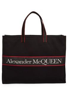 Alexander McQueen City Selvedge Logo East/West Tote