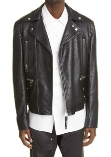 Alexander McQueen Classic Leather Biker Jacket