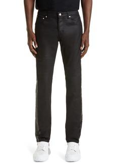 Alexander McQueen Coated Slim Fit Jeans