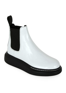 Alexander McQueen Colorblock Leather Chelsea Boots