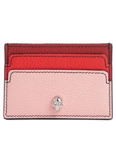 Alexander McQueen Colorblock Leather Envelope Card Holder