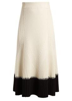 Alexander McQueen Contrast-hem ribbed midi skirt
