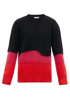 Alexander McQueen Contrast-knit cotton and wool sweater