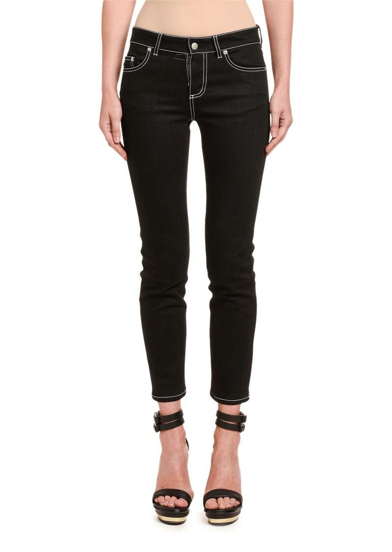 Alexander McQueen Contrast-Stitched Skinny Jeans