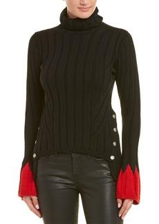 Alexander Mcqueen Contrast Wool-Blend Turtleneck Sweater