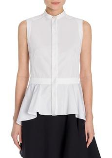 Alexander McQueen Cotton Asymmetric Top
