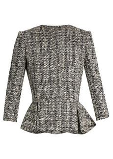 Alexander McQueen Cotton-blend tweed peplum jacket