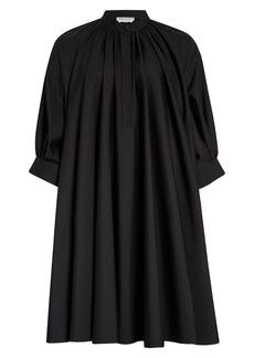Alexander McQueen Cotton Poplin Trapeze Dress