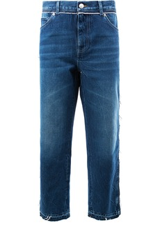 Alexander McQueen cropped boyfriend jeans - Blue