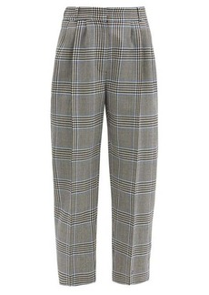 Alexander McQueen Cropped Prince of Wales-check wool suit trousers