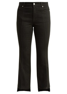 Alexander McQueen Cropped kick-flare step-hem jeans