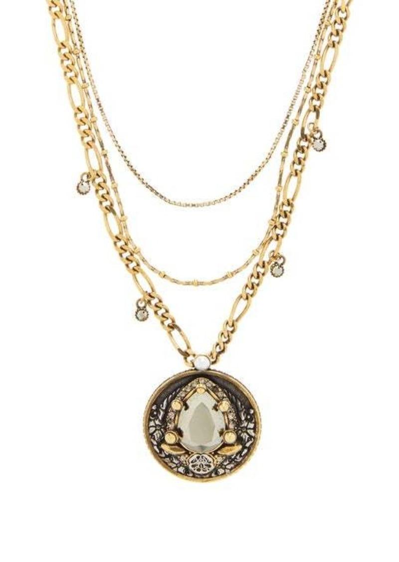 Alexander McQueen Crystal-amulet necklace