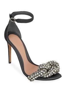 Alexander McQueen Crystal and Suede Sandals