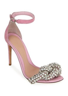 Alexander McQueen Crystal and Suede Sandals