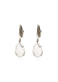 Alexander McQueen Crystal-drop pavé earrings