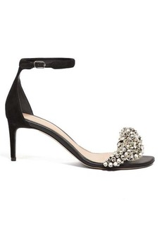 Alexander McQueen Crystal-embellished leather sandals
