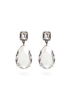 Alexander McQueen Crystal-embellished pear-drop earrings