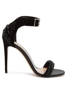 Alexander McQueen Crystal-embellished suede sandals
